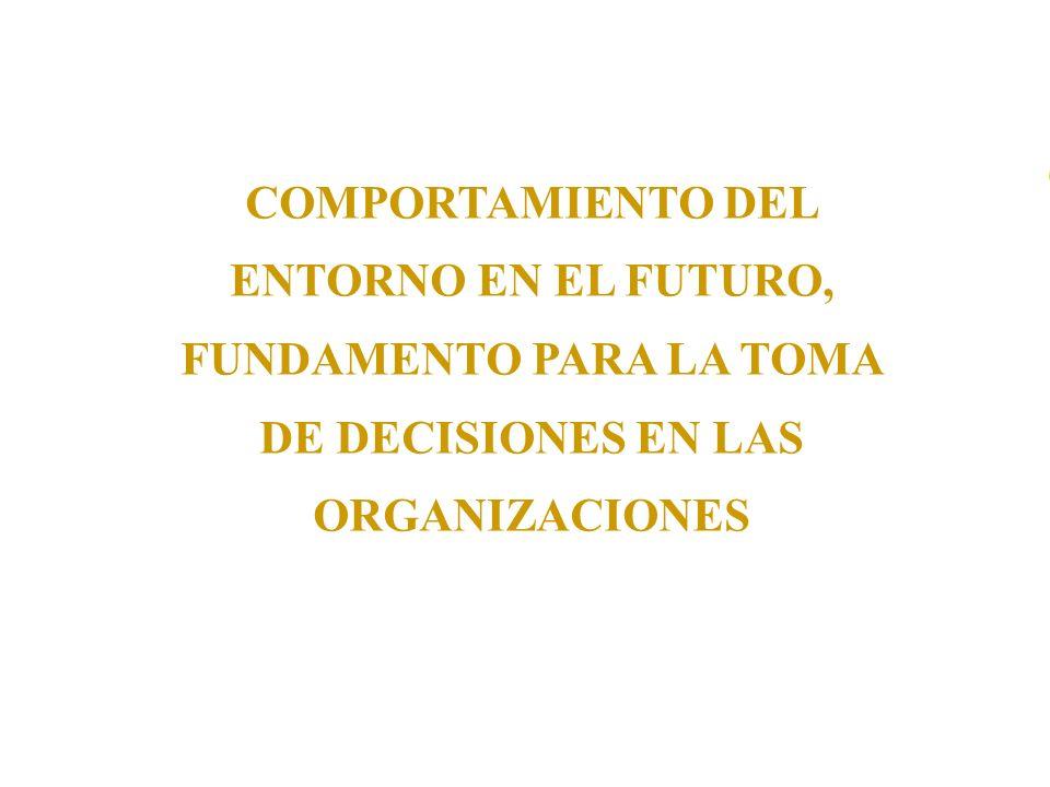 COMPORTAMIENTO DEL ENTORNO EN EL FUTURO, FUNDAMENTO PARA LA TOMA DE DECISIONES EN LAS ORGANIZACIONES