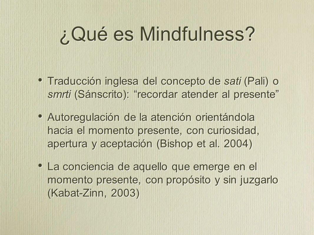 ¿Qué es Mindfulness.