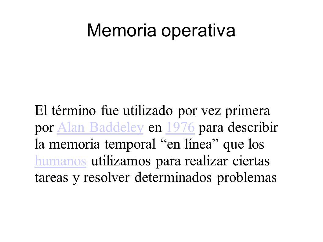 Memoria operativa