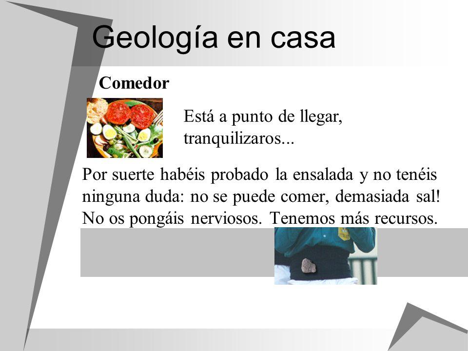 Geología en casa Por suerte habéis probado la ensalada y no tenéis ninguna duda: no se puede comer, demasiada sal! No os pongáis nerviosos. Tenemos má