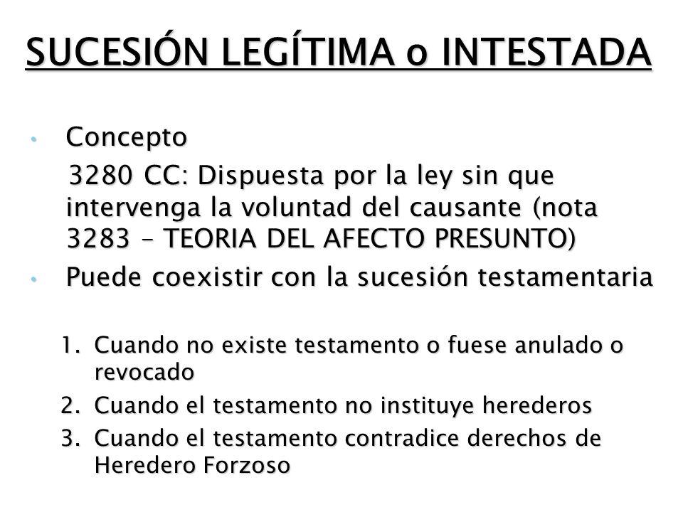 HIPÓTESIS PARTICULARES LEGITIMARIOS NO HEREDEROS Legitimario = legatario Legitimario = donatario Nuera viuda ( precisión conceptual ) = sucesora universal, por tener vocación eventual al todo