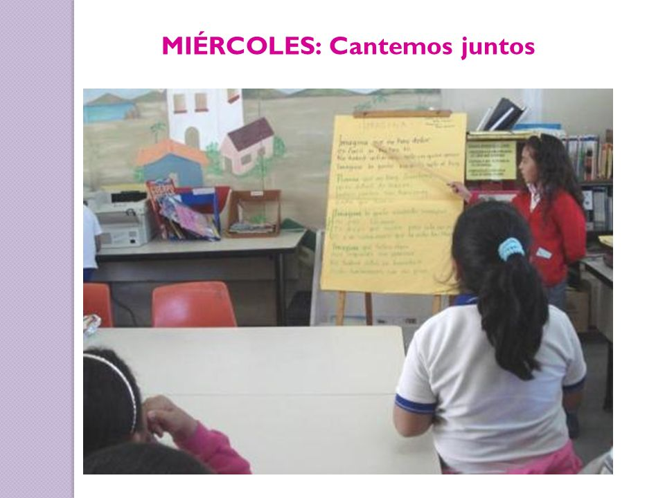 MIÉRCOLES: Cantemos juntos