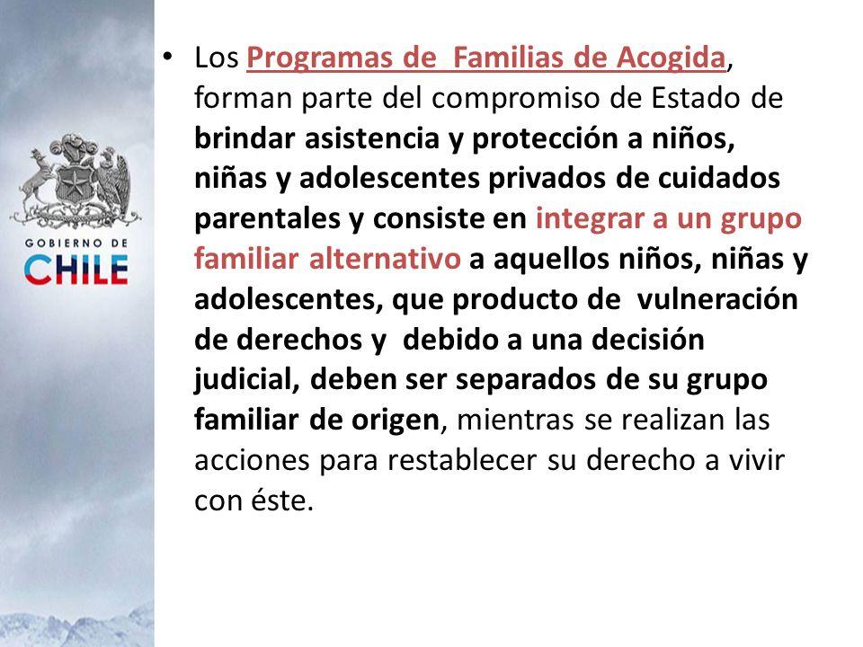 Los Programas de Familias de Acogida, forman parte del compromiso de Estado de brindar asistencia y protección a niños, niñas y adolescentes privados
