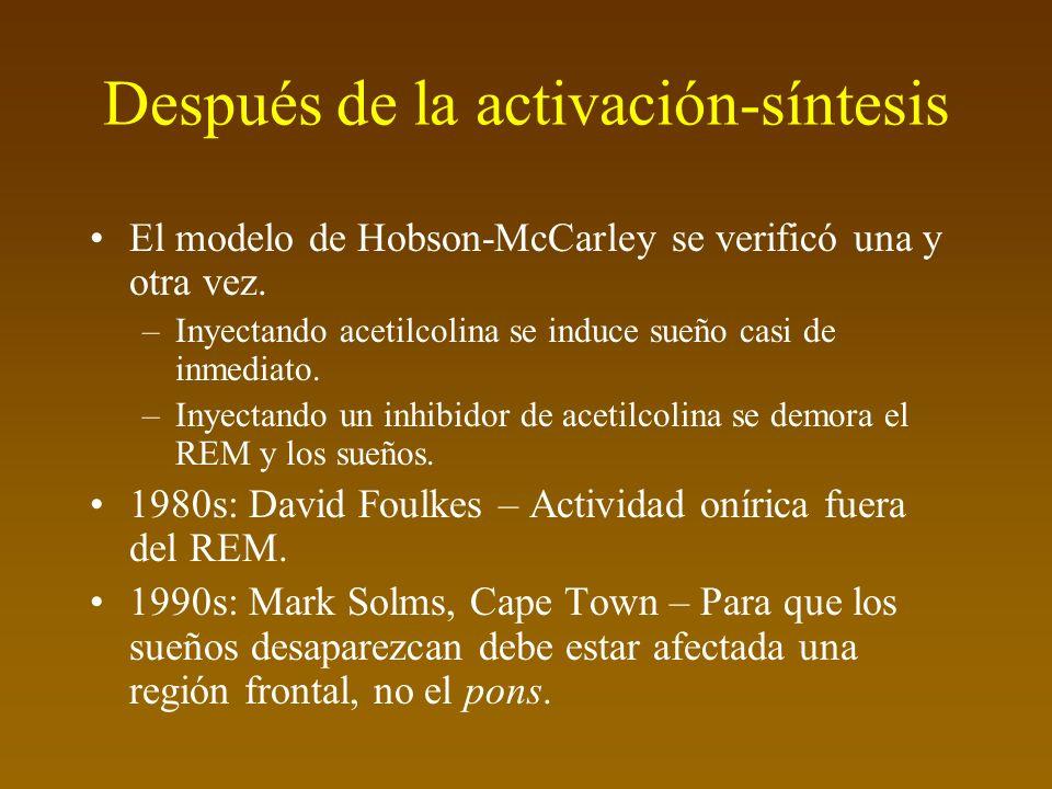 Después de la activación-síntesis El modelo de Hobson-McCarley se verificó una y otra vez.