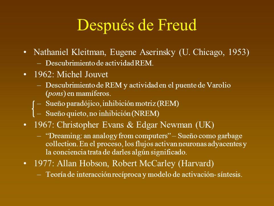 Después de Freud Nathaniel Kleitman, Eugene Aserinsky (U.