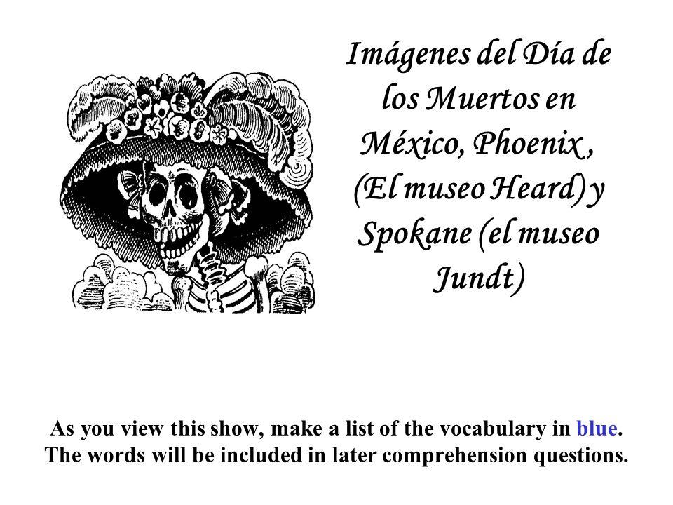 Una celebración distinta Una fiesta popular en los Estados Unidos tanto como en México Imágenes del Día de los Muertos en México, Phoenix y Spokane