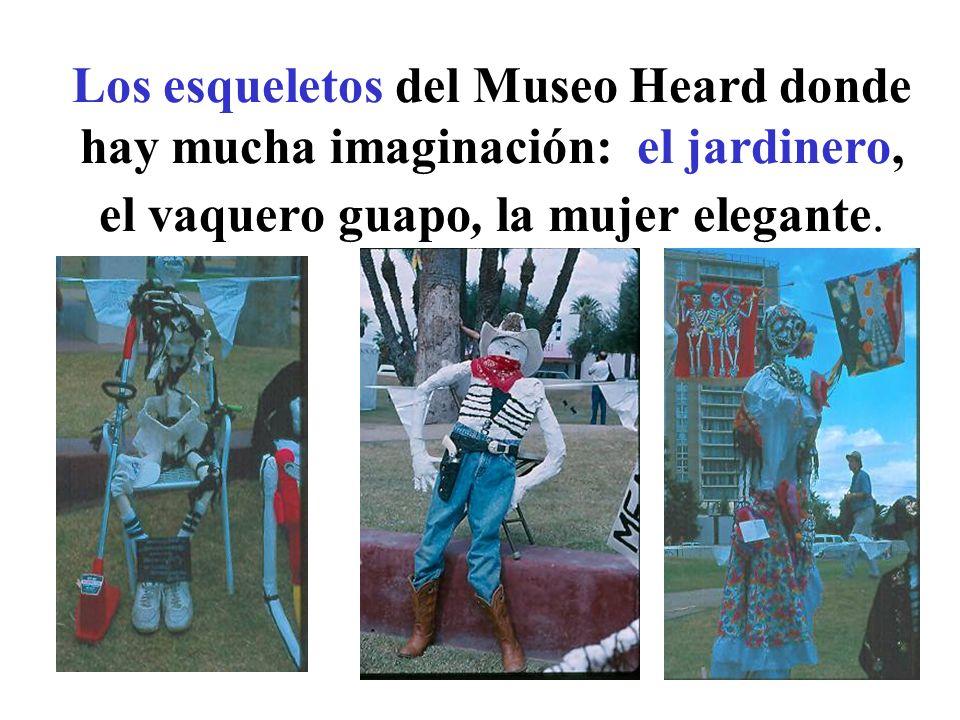 Los esqueletos del Museo Heard donde hay mucha imaginación: el jardinero, el vaquero guapo, la mujer elegante.