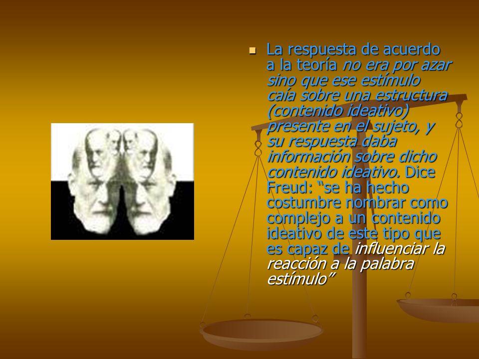 La respuesta de acuerdo a la teoría no era por azar sino que ese estímulo caía sobre una estructura (contenido ideativo) presente en el sujeto, y su respuesta daba información sobre dicho contenido ideativo.