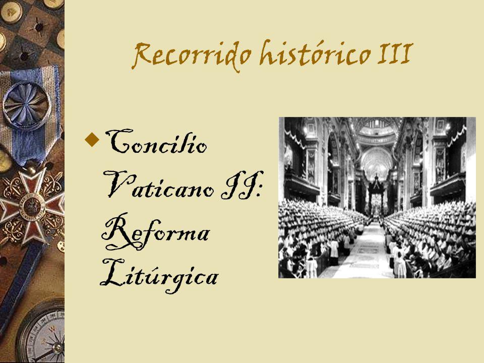 Recorrido histórico III Concilio Vaticano II: Reforma Litúrgica