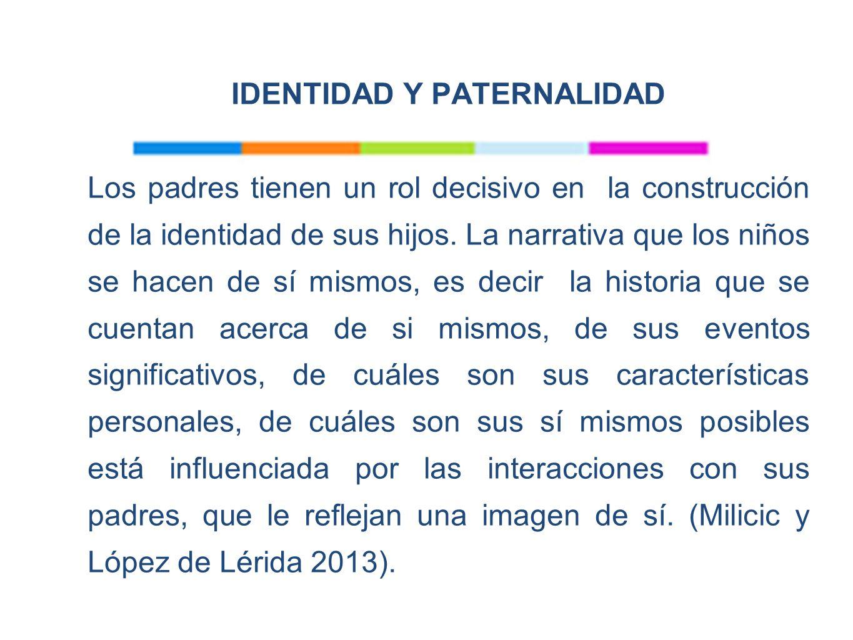 IDENTIDAD Y PATERNALIDAD Los padres tienen un rol decisivo en la construcción de la identidad de sus hijos.