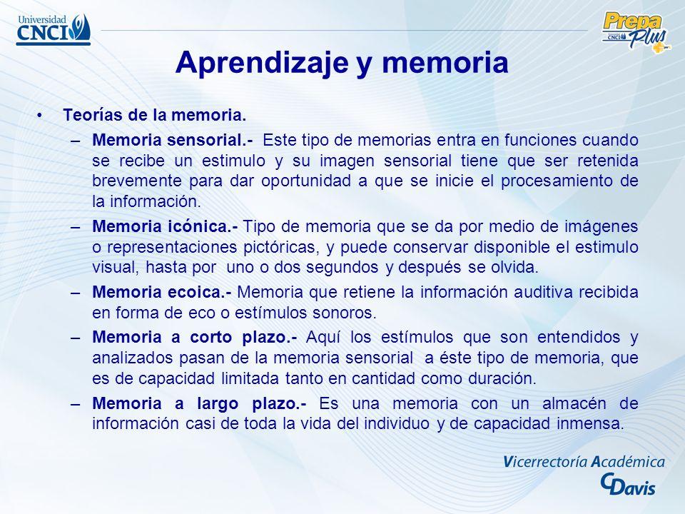 Teorías de la memoria.