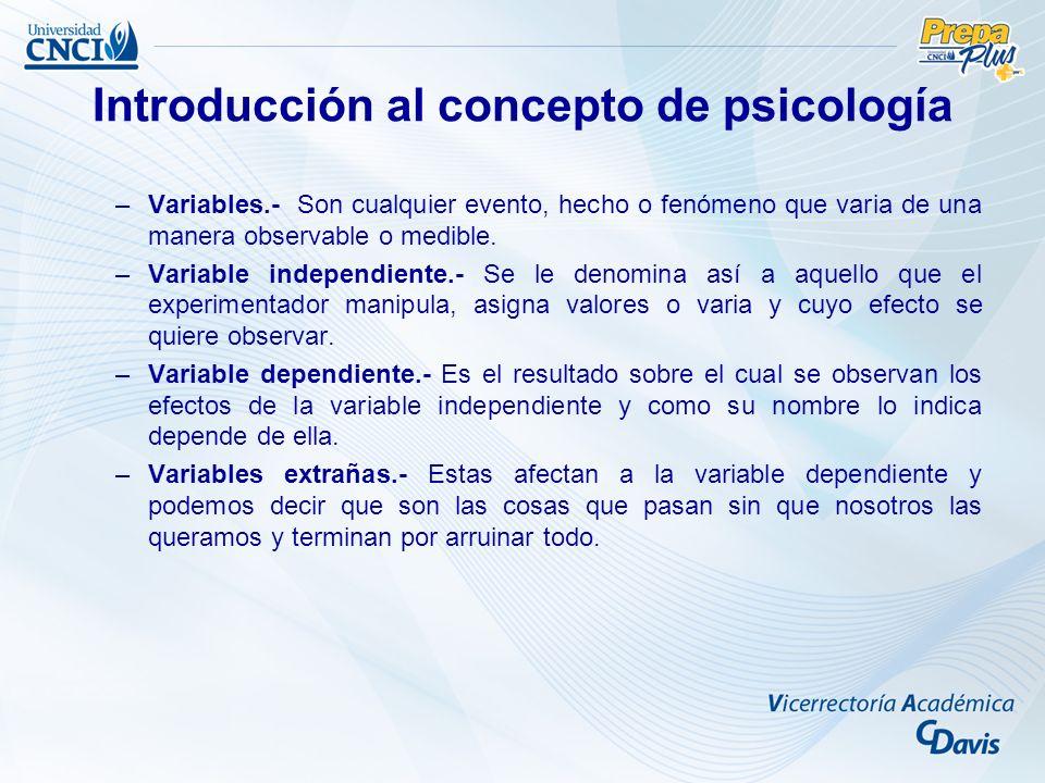 –Variables.- Son cualquier evento, hecho o fenómeno que varia de una manera observable o medible.