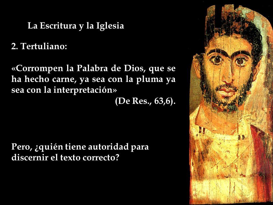 La Escritura y la Iglesia 2.