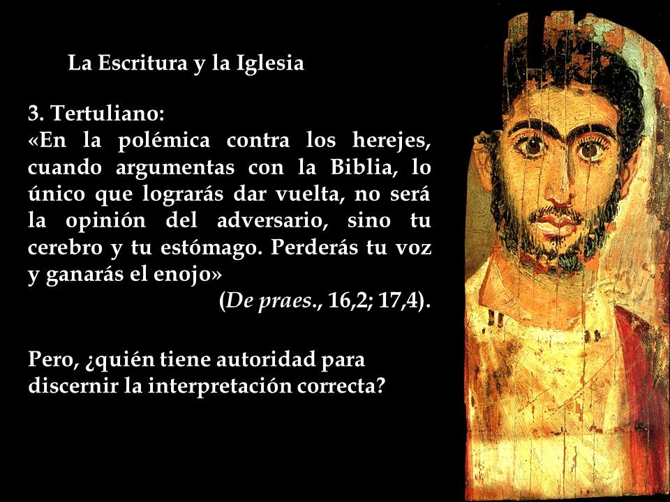 La Escritura y la Iglesia 3.