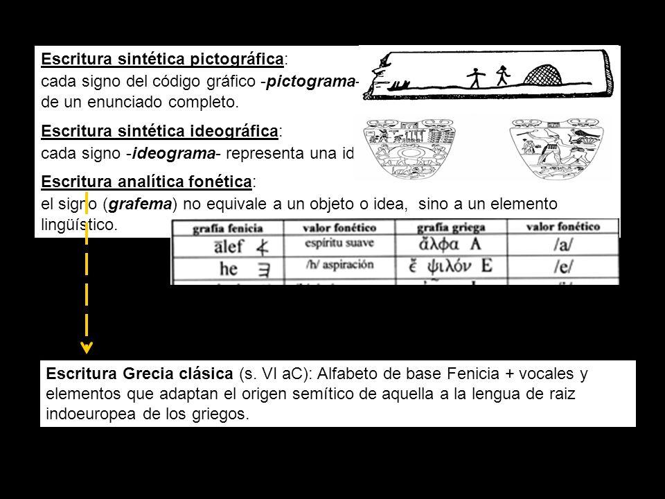 Escritura Grecia clásica (s.