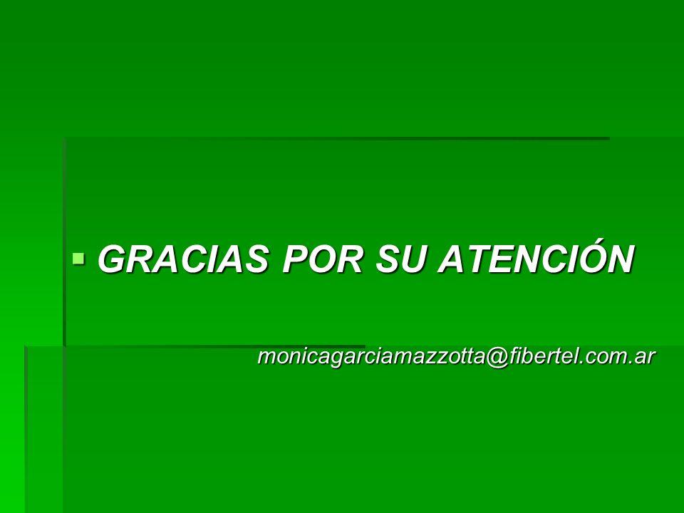 GRACIAS POR SU ATENCIÓN GRACIAS POR SU ATENCIÓNmonicagarciamazzotta@fibertel.com.ar