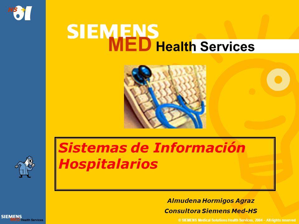 © SIEMENS Medical Solutions Health Services, 2004 – All rights reserved HS 20 de 38 Urgencias Atención urgente a demanda (Se da más prioridad al paciente que peor está) ¿Cómo se determina quién está peor.