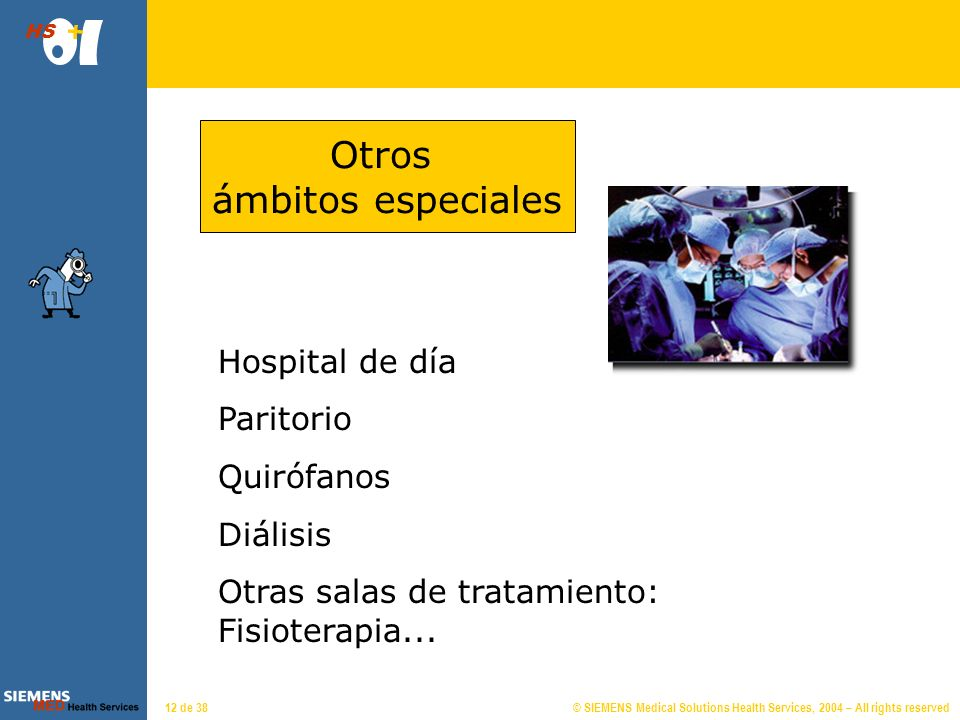 © SIEMENS Medical Solutions Health Services, 2004 – All rights reserved HS 11 de 38 Hospitalización Tratamiento con ingreso.