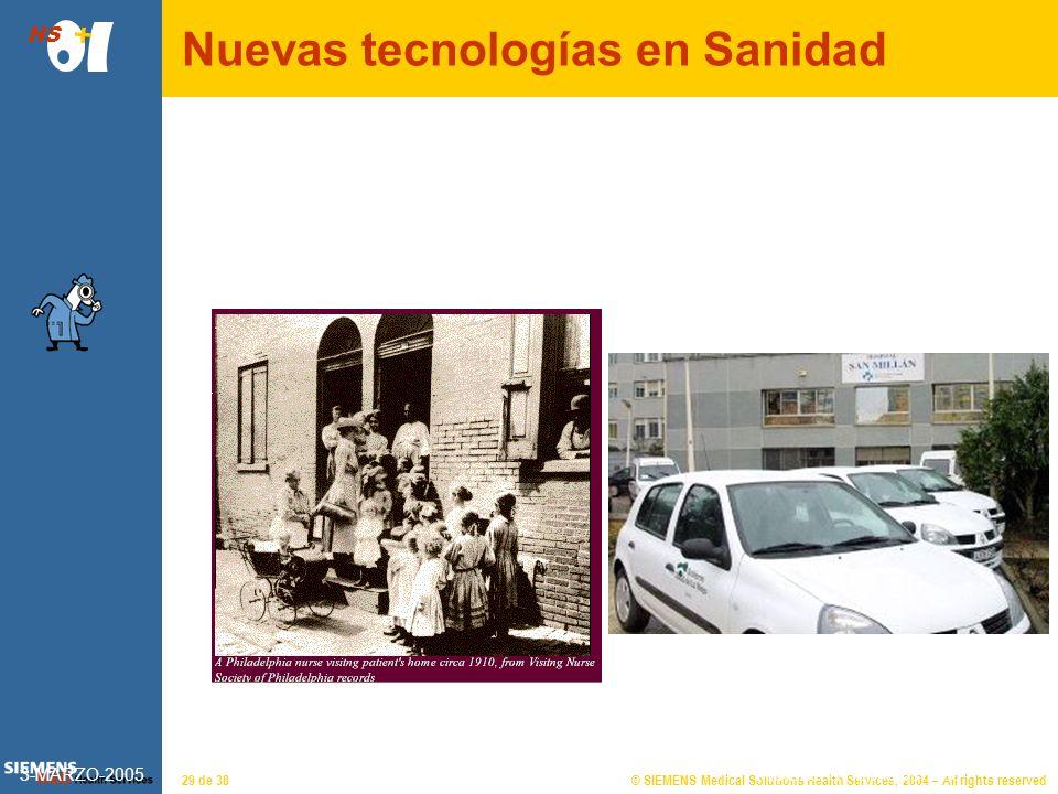 © SIEMENS Medical Solutions Health Services, 2004 – All rights reserved HS 28 de 38 Almudena Hormigos 2|26 Las nuevas tecnologías de la información y