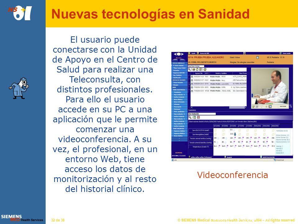 © SIEMENS Medical Solutions Health Services, 2004 – All rights reserved HS 31 de 38 Almudena Hormigos 11|26 Dispositivos portátiles: Mediante descarga