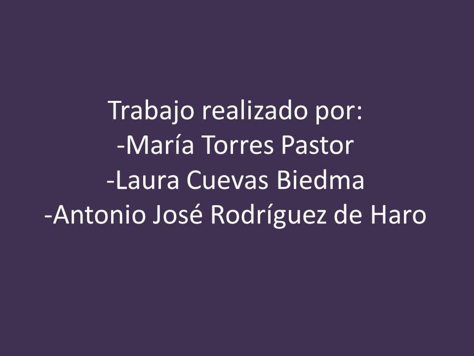 Trabajo realizado por: -María Torres Pastor -Laura Cuevas Biedma -Antonio José Rodríguez de Haro