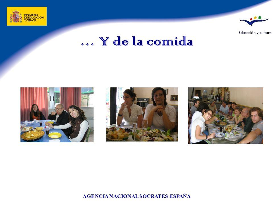 AGENCIA NACIONAL SOCRATES-ESPAÑA … Y de la comida