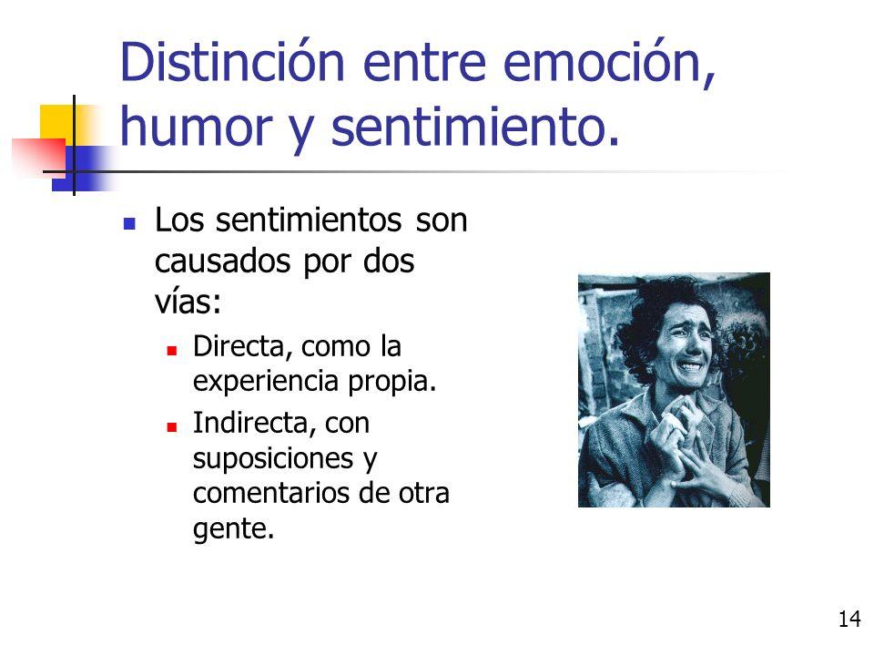El sentimiento es un estado asignado a un objeto. Provienen de experiencias y aprendizaje social.