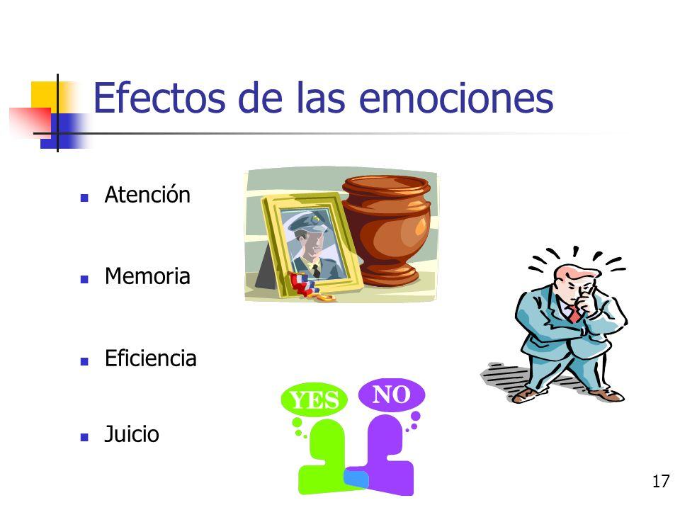 Efectos de las emociones 16