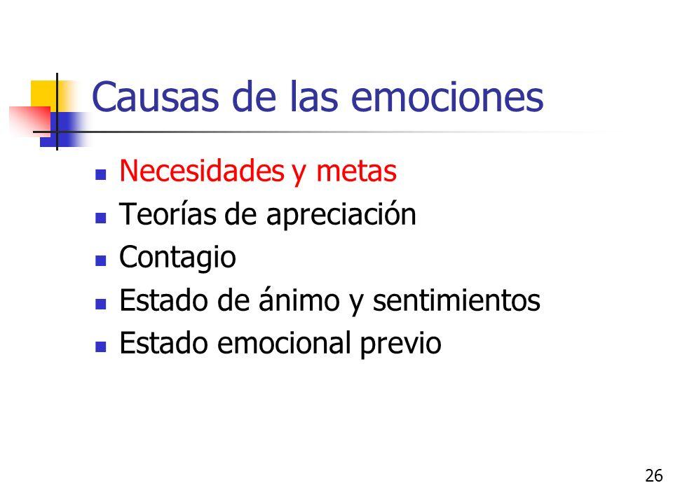 Causas de las emociones 25