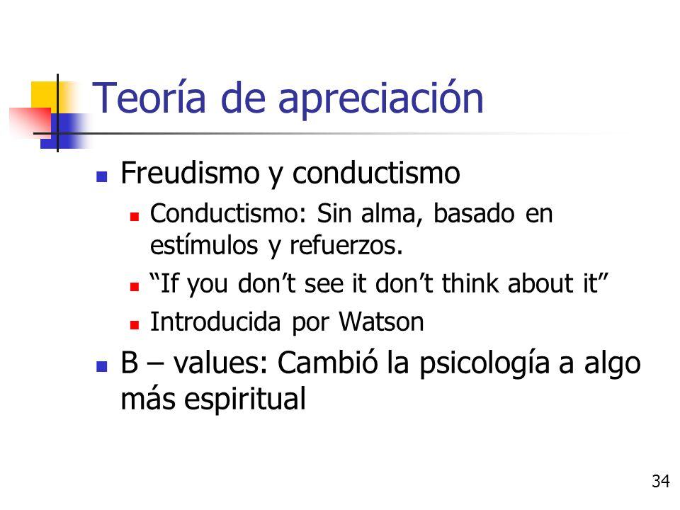 Teoría de apreciación Más precisas que los esquemas basados en jerarquía.