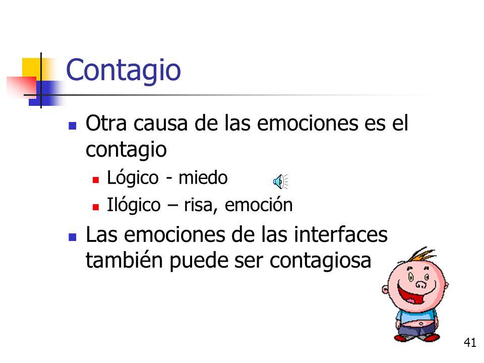 Causas de las emociones Necesidades y metas Teorías de apreciación Contagio Estado de ánimo y sentimientos Estado emocional previo 40