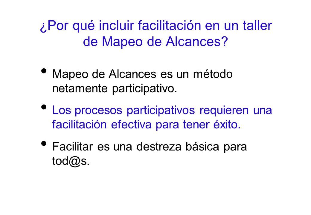 ¿Por qué incluir facilitación en un taller de Mapeo de Alcances.