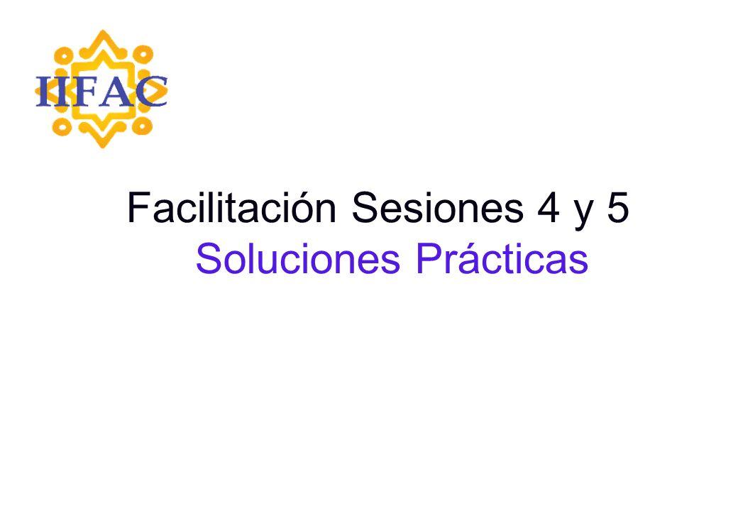 Facilitación Sesiones 4 y 5 Soluciones Prácticas