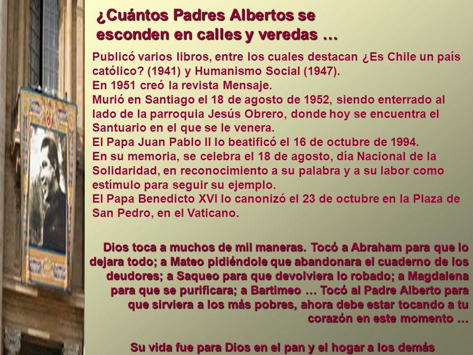 Publicó varios libros, entre los cuales destacan ¿Es Chile un país católico? (1941) y Humanismo Social (1947). En 1951 creó la revista Mensaje. Murió