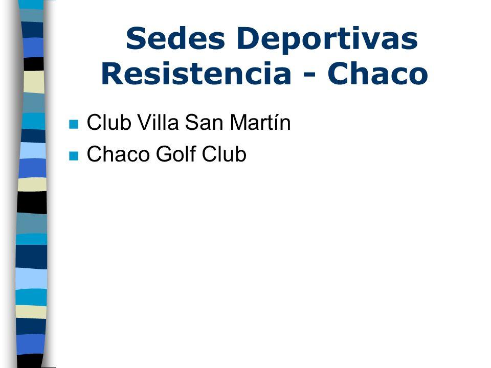Sedes Deportivas Resistencia - Chaco n Club Villa San Martín n Chaco Golf Club