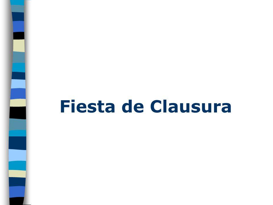 Fiesta de Clausura