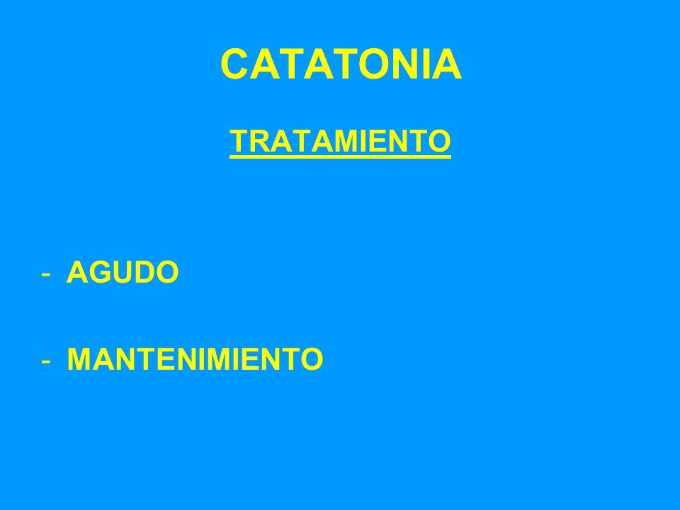 CATATONIA TRATAMIENTO -AGUDO -MANTENIMIENTO