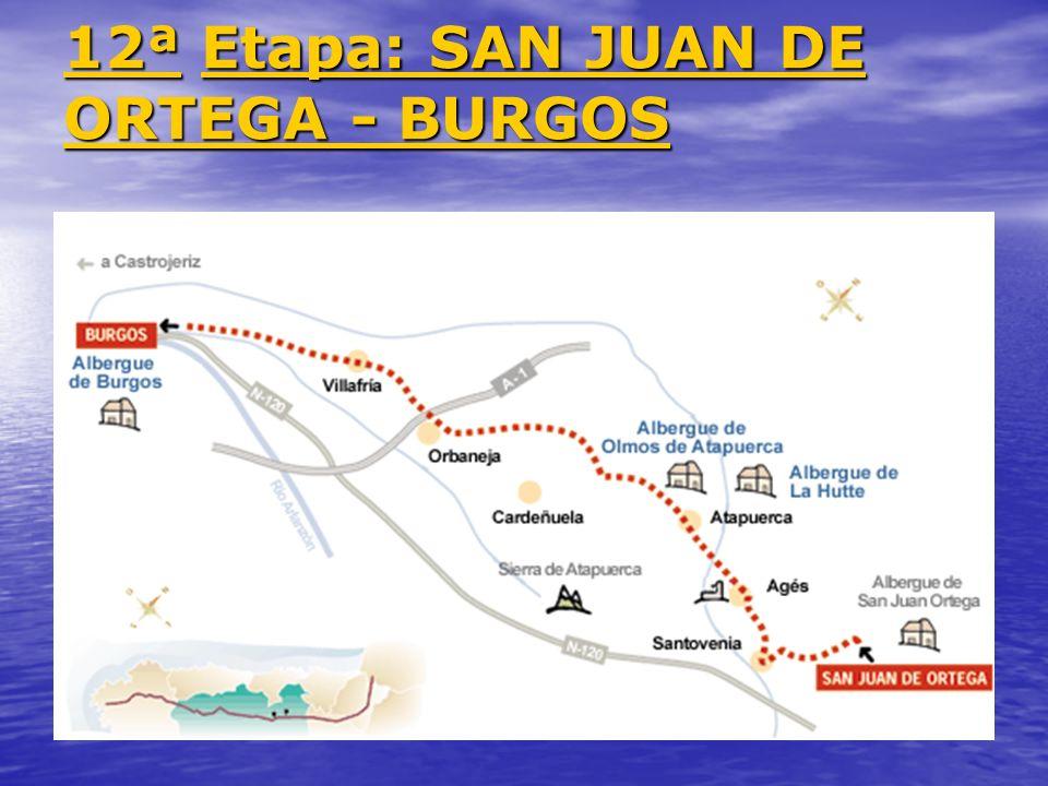 12ª 12ª Etapa: SAN JUAN DE ORTEGA - BURGOS Etapa: SAN JUAN DE ORTEGA - BURGOS 12ª Etapa: SAN JUAN DE ORTEGA - BURGOS