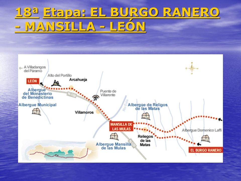 18ª 18ª Etapa: EL BURGO RANERO - MANSILLA - LEÓN Etapa: EL BURGO RANERO - MANSILLA - LEÓN 18ª Etapa: EL BURGO RANERO - MANSILLA - LEÓN