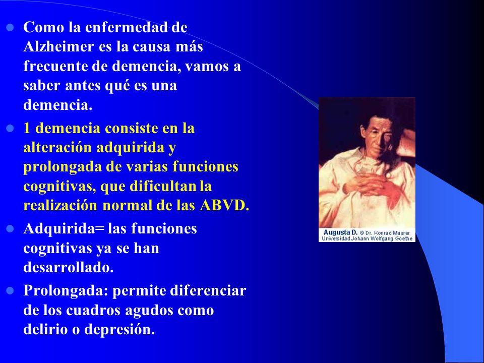 Déficits de funciones intelectuales (memoria, lenguaje...) Trastornos del comportamiento.