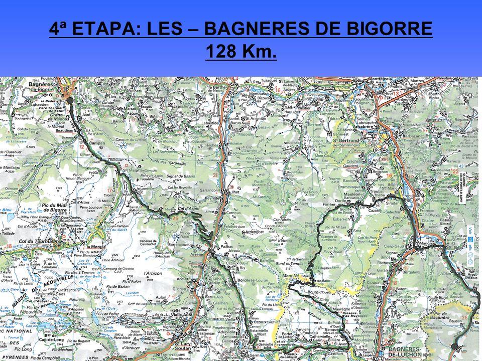 4ª ETAPA: LES – BAGNERES DE BIGORRE 128 Km.