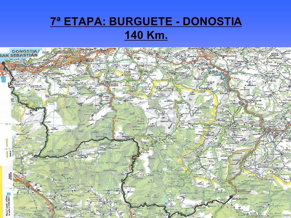 7ª ETAPA: BURGUETE - DONOSTIA 140 Km.