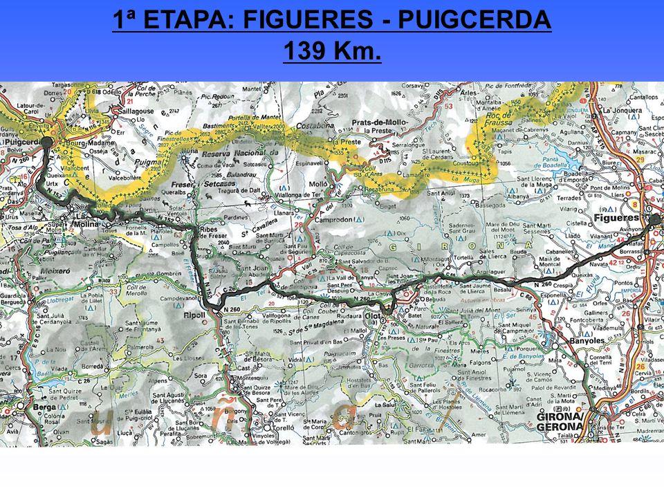 1ª ETAPA: FIGUERES - PUIGCERDA 139 Km.