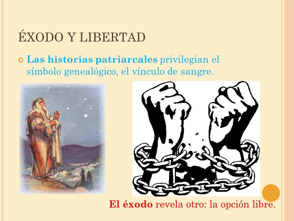 ÉXODO Y LIBERTAD Las historias patriarcales privilegian el símbolo genealógico, el vínculo de sangre.