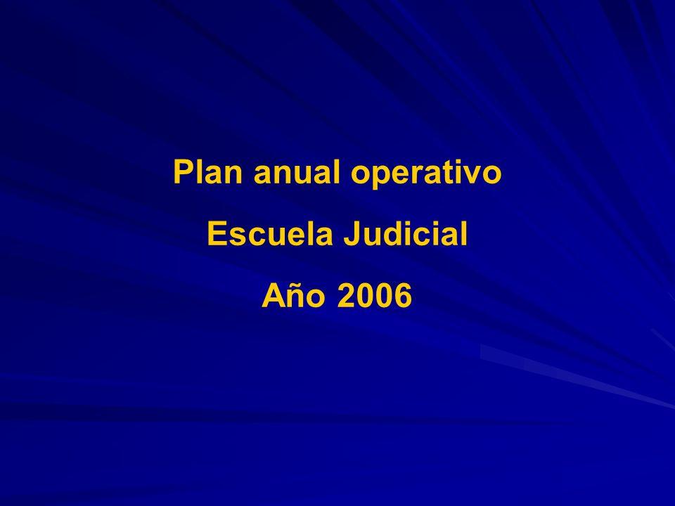 Plan anual operativo Escuela Judicial Año 2006