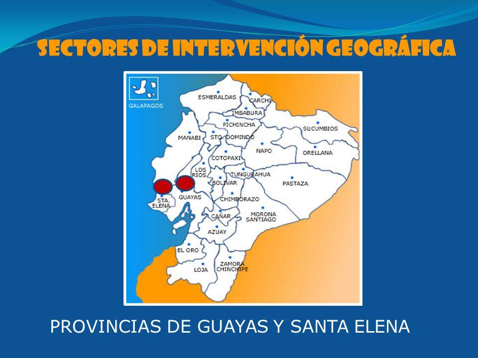 SECTOres de intervención geográfica PROVINCIAS DE GUAYAS Y SANTA ELENA