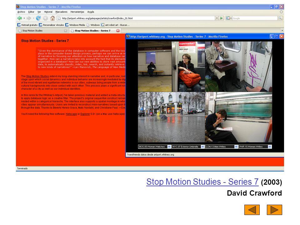 Stop Motion Studies - Series 7Stop Motion Studies - Series 7 (2003) David Crawford