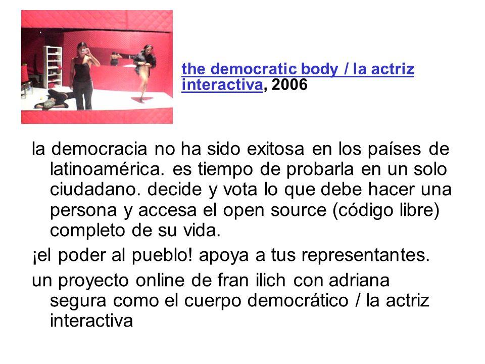 la democracia no ha sido exitosa en los países de latinoamérica. es tiempo de probarla en un solo ciudadano. decide y vota lo que debe hacer una perso