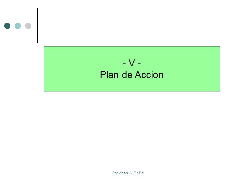 Por Walter A. De Poi - V - Plan de Accion