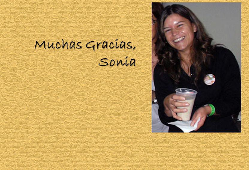 Muchas Gracias, Sonia